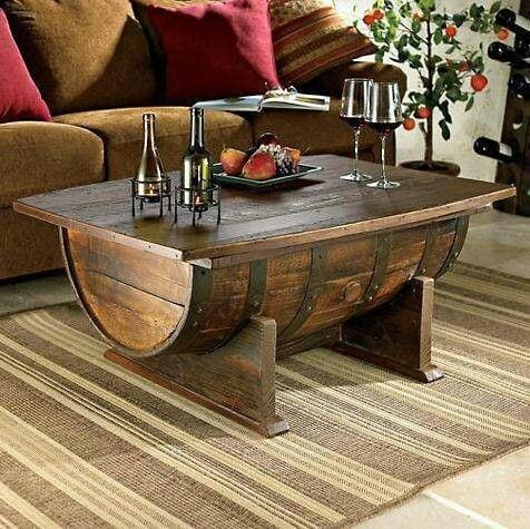 15 Whiskey Barrel Coffee Table