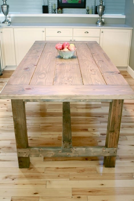 How to build an industrial farm table diy project cut for Industrial farmhouse plans