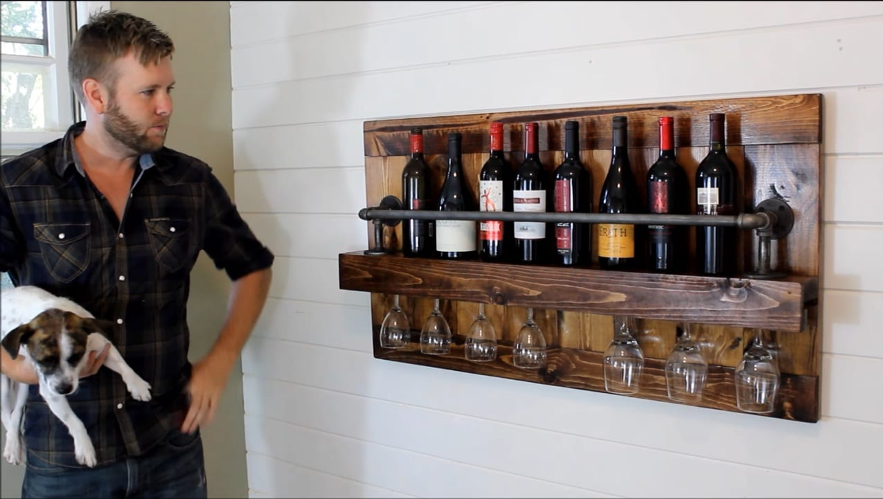 The Industrial Wine Rack Project Diy Project