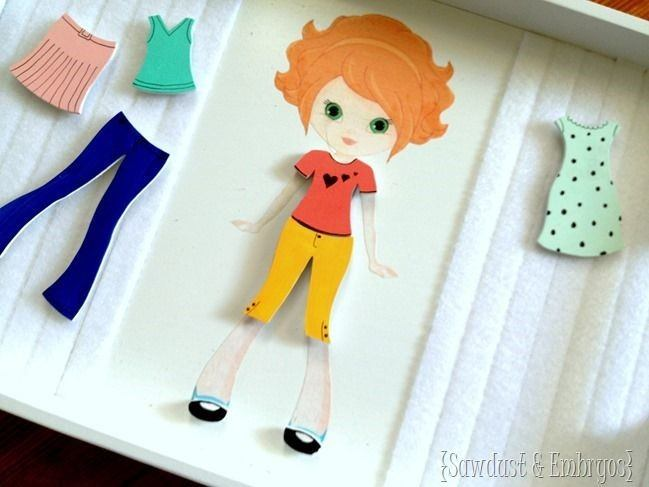 Wooden Paper Doll