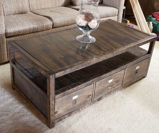 Storage coffee table plans