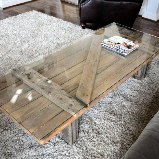 Old Wooden Door Recycled Into A Coffee Table