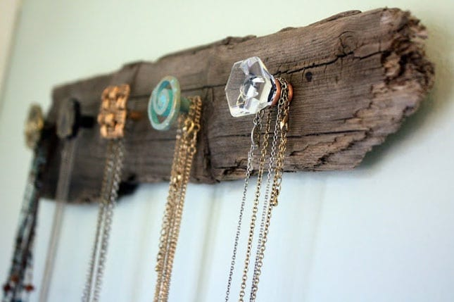Wood Necklace Holder