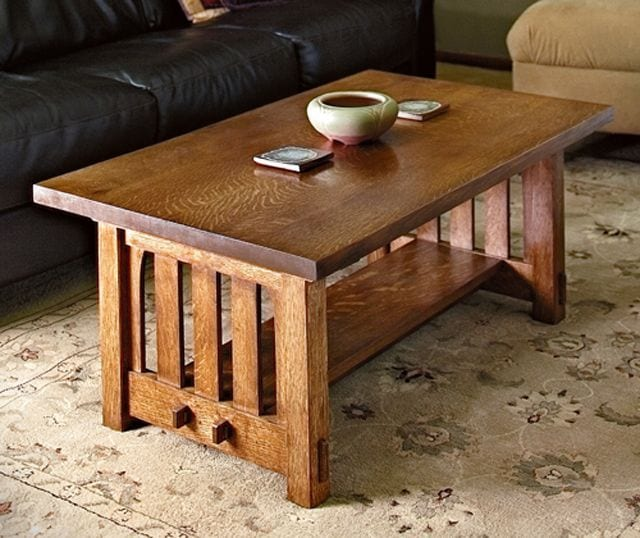 Oak contrast coffee table