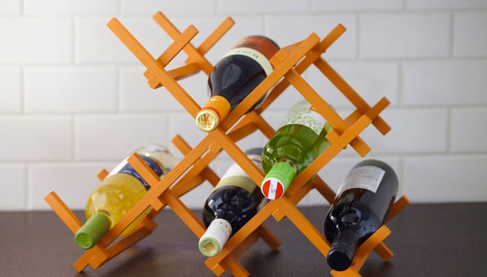 Countertop wine rack project