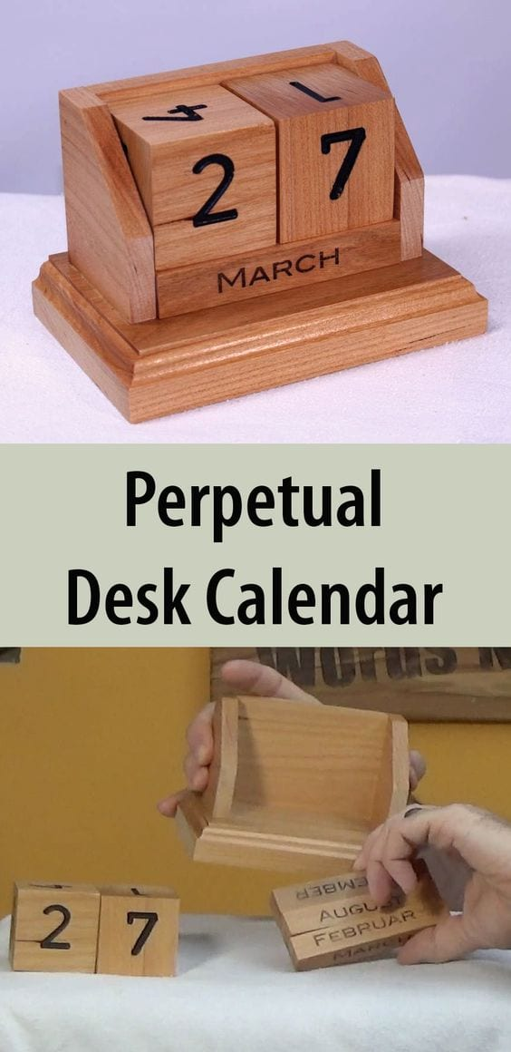 The everlasting desk calendar