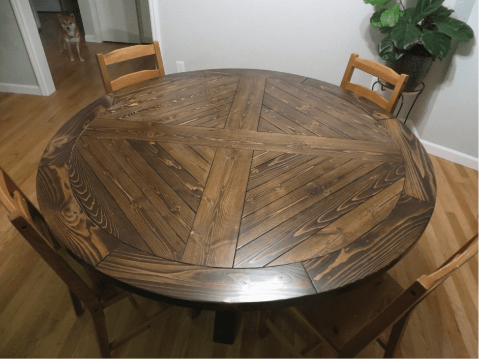 how to cut a dining room table top smaller