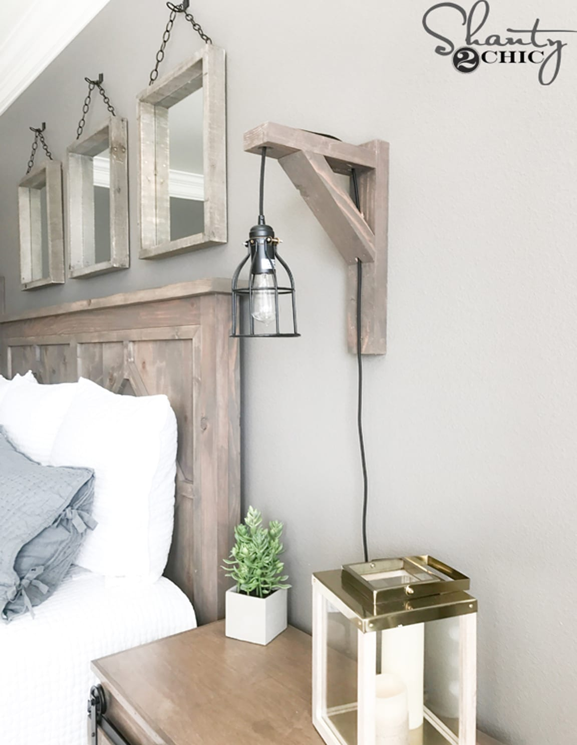 Diy corbel sconce light