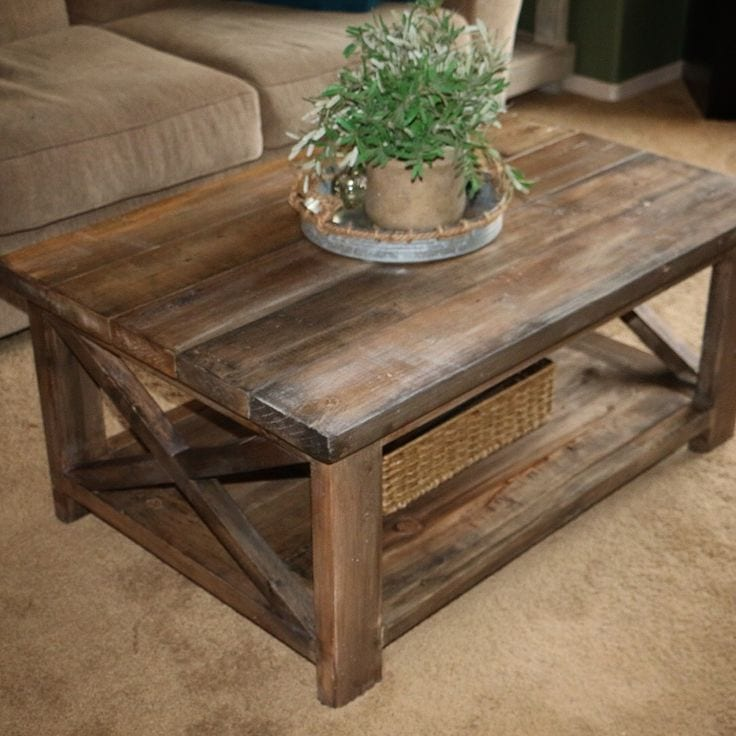Great Rustic X Coffee Table