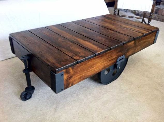 DIY Factor Cart Coffee Table