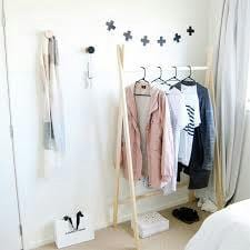 Wooden Movable Hanging Closet