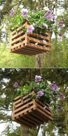 Wooden Plant Hanging Boxes