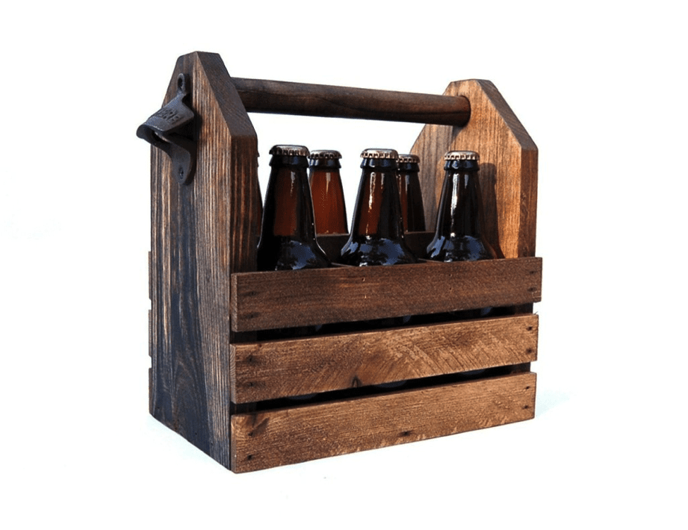 Wood Beer Bottles Crate