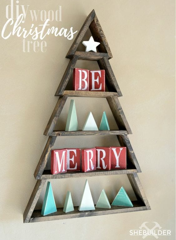 Christmas tree diy art