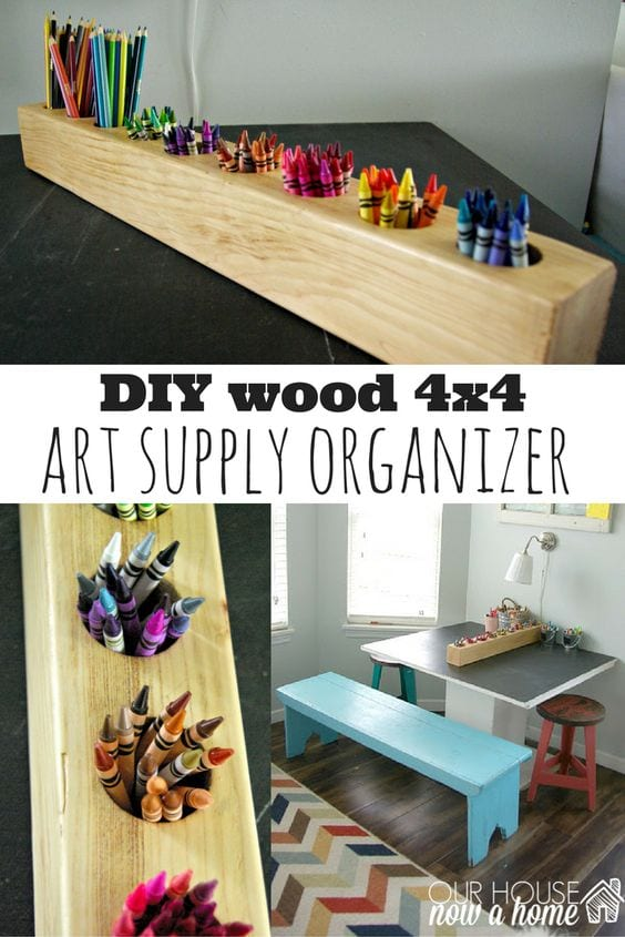 Art supply organizer