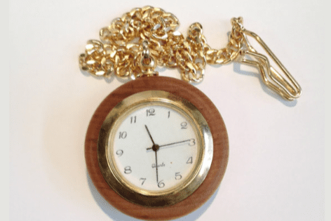 Round pocket watch