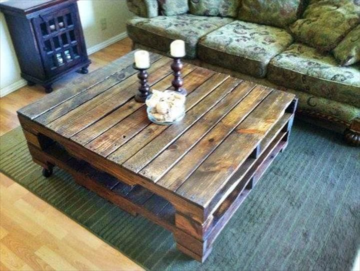 Modern Pallet Coffee Table