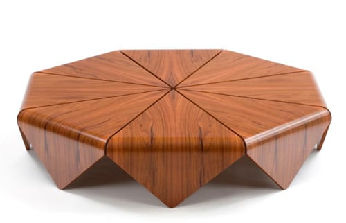 Round and triangle shape table