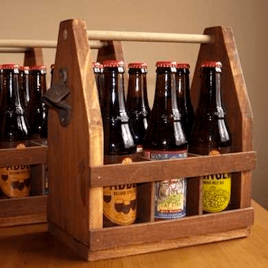Easy-To-Hang Wooden Bottle Crate
