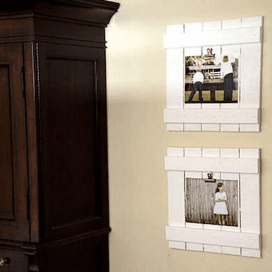 Diy indoor photo frames