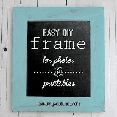 Diy photo and print frame