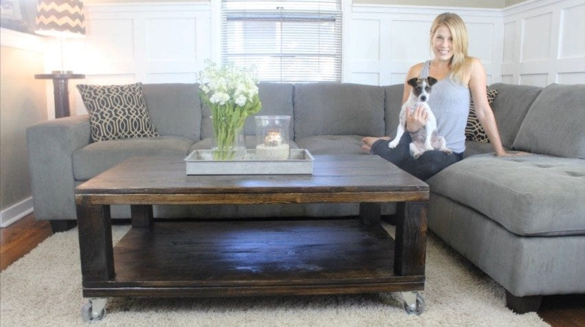 How to build a rustic coffee table diy project cut the for How to build a rustic coffee table