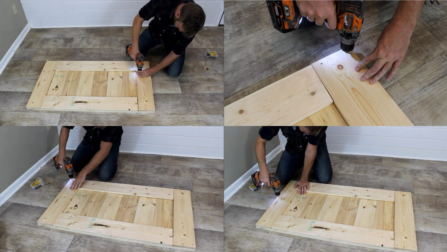 Step 2d turning the boards in wine rack