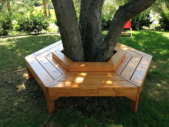 Delicieux Design And Build A Simple But Awesome Hexagonal Pallet Wood Bench Around A  Tree In Your Garden. Its Construction Geometry Is Pretty Easier Than  Building A ...