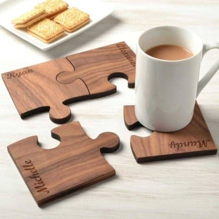 I Am Sure You Would Like These Table Mats Are Made Of Wood And Perfect For Gifts In The Evening Can Keep Coffee Mugs On
