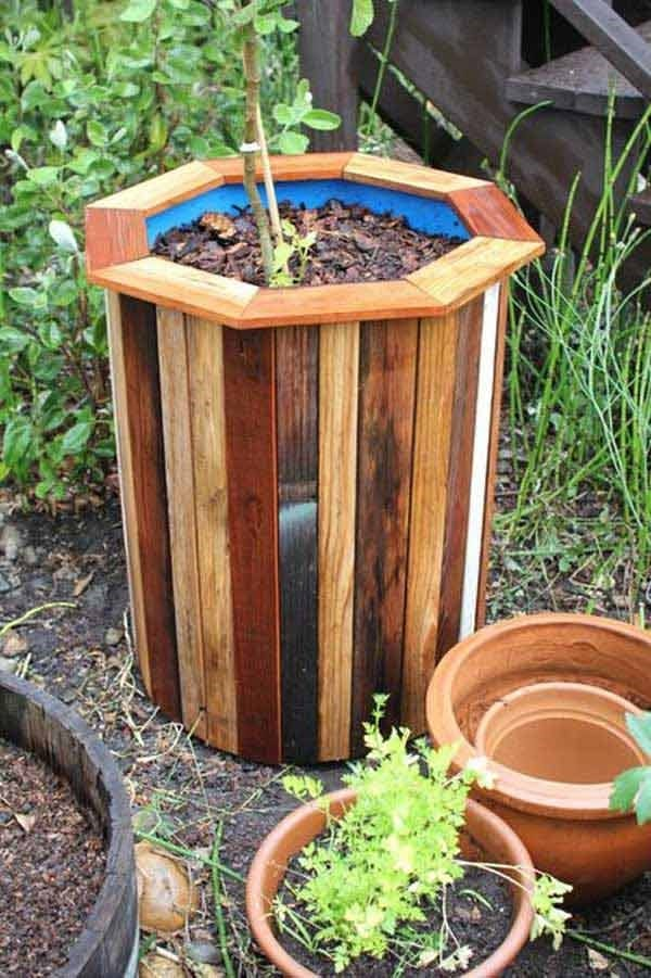 Are You Looking For Some Ideas To Add Planters Around Your Garden And Also Want A Diy Style This Drum Planter Idea Might Be Perfect