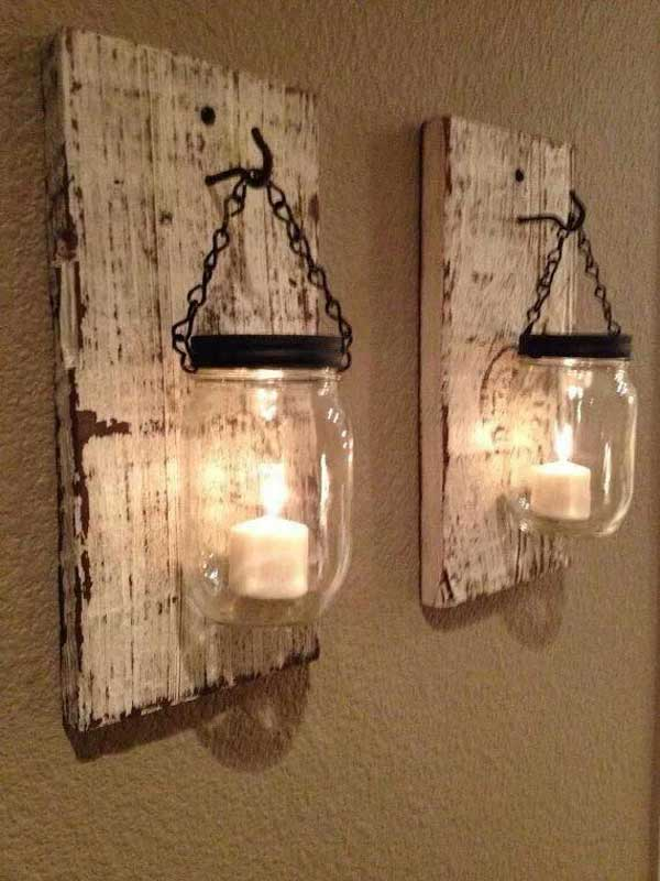 20 board for hanging candles - Wood Pallet Ideas