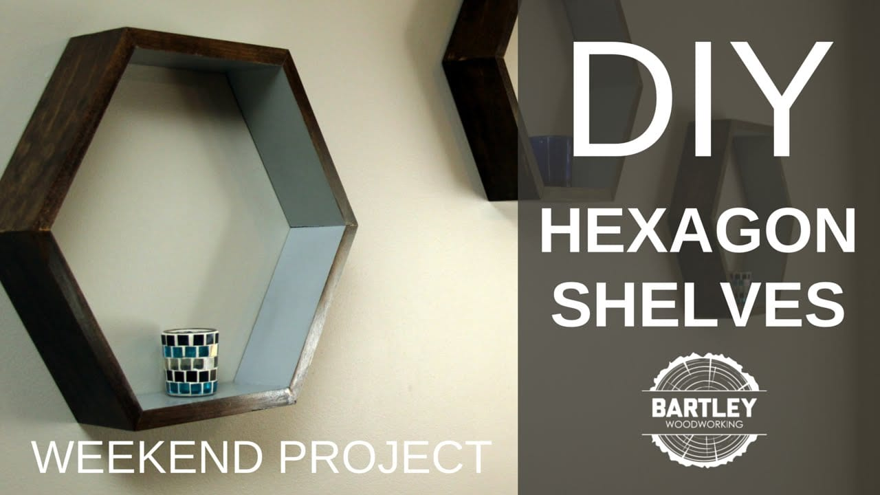 How To Make Wooden Hexagon Shelves
