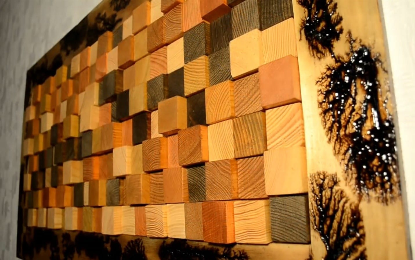 How To Make A 3D Wall Panel From Reclaimed Wood DIY