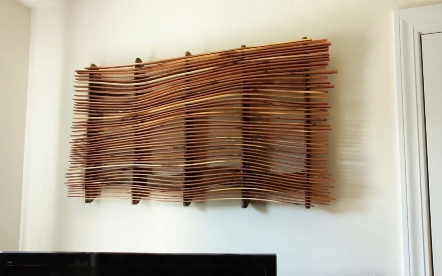 how to make wall art from scrap wood diy project cut the wood