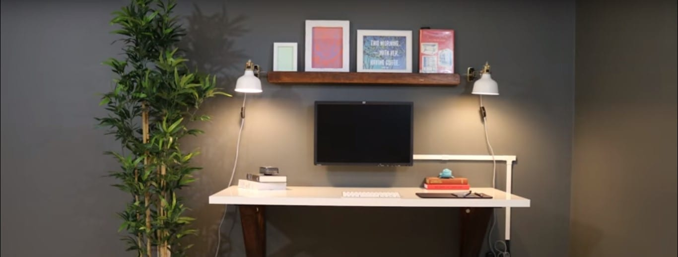 How To Build A Wall Mounted Desk Diy Project