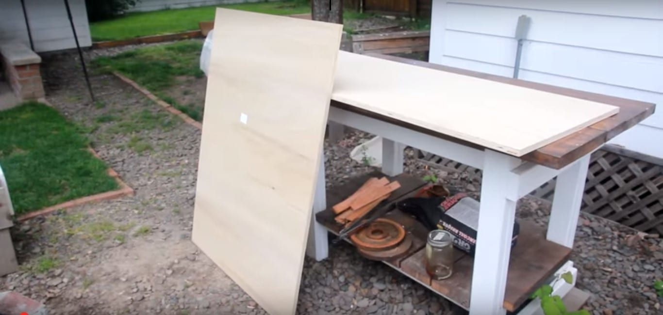 Start Making The Desk By Cutting The Plywood Into Long Pieces On The Table  Saw.