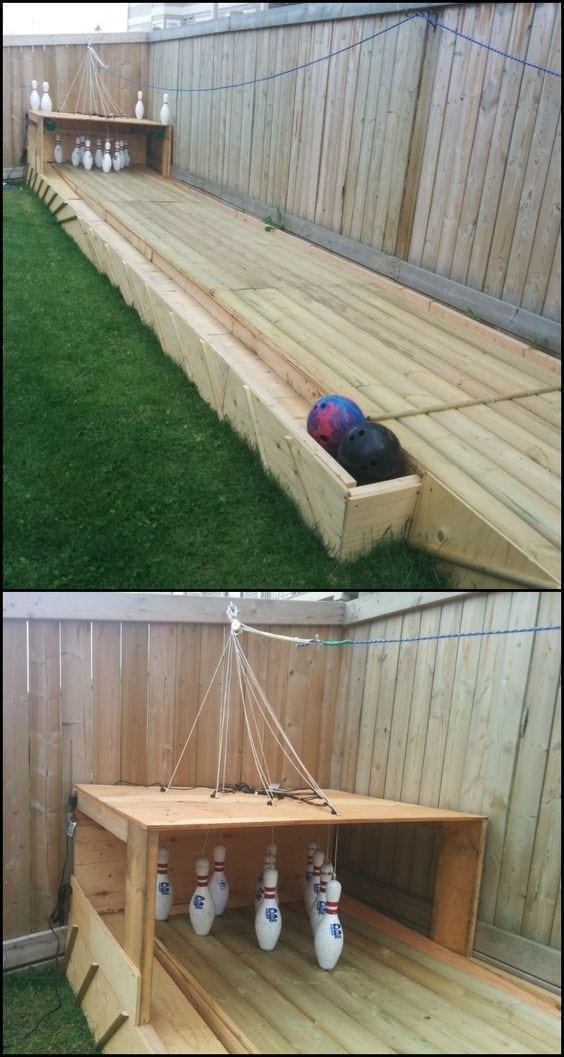 23 Build A Backyard Bowling Alley