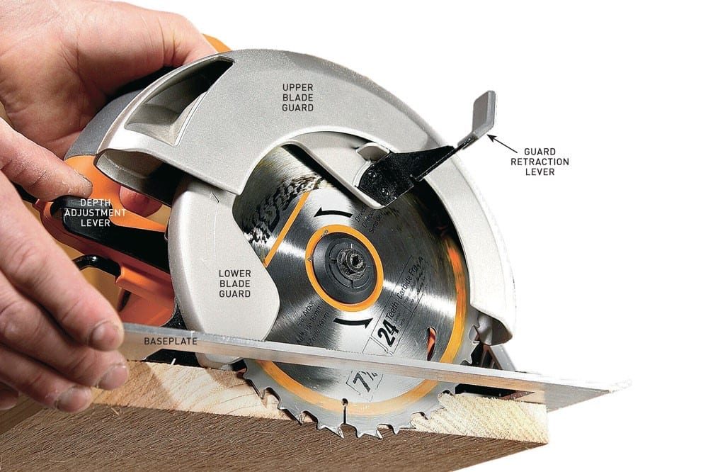 How to use a circular saw tips and techniques cut the wood establishing proper blade depth greentooth Image collections