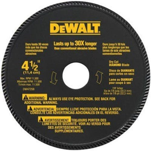 DEWALT DW4725 High Performance 4-1-2 Inch