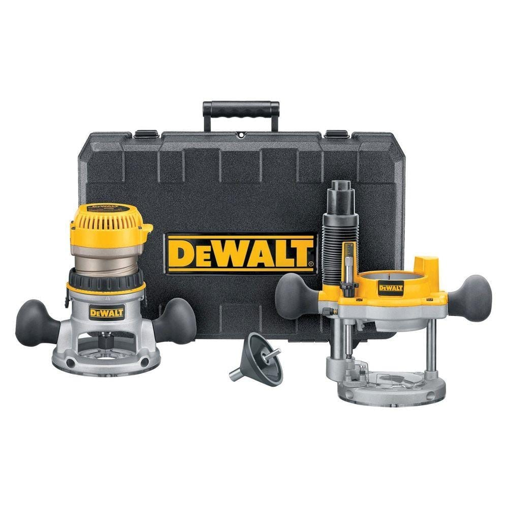 DEWALT DW618PK 12-AMP 2-1-4 HP Plunge and Fixed-Base Variable-Speed Router Kit