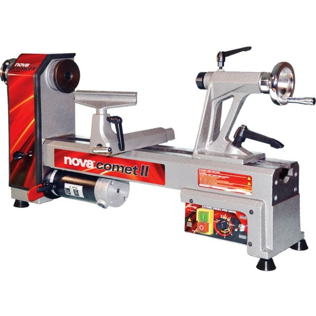 NOVA 4630 Comet II Variable Speed Mini Lathe 2013 Edition 12-Inch X 16 1-2 Inch Silver