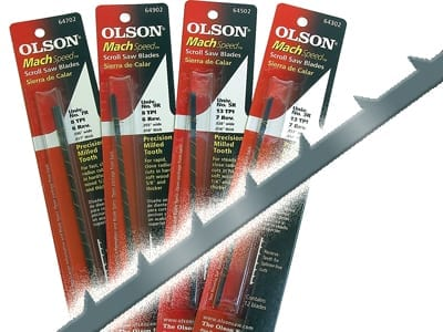 Olson Scroll Saw Blades for Thick Wood