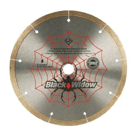 QEP 6-1008BW 10-Inch Black Widow Micro-Segmented Rim Diamond Blade