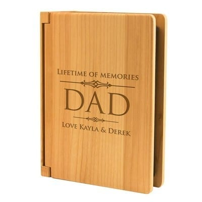 Lifetime of memories maple wood 4x6 photo album for father