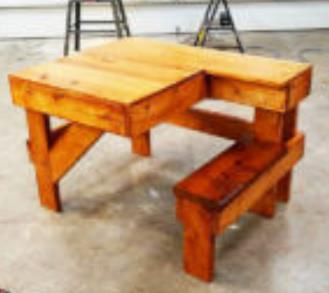 L Shaped Diy Shooting Bench With Seat