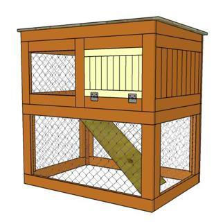 Movable Rabbit Hutch With A Bottom Compartment