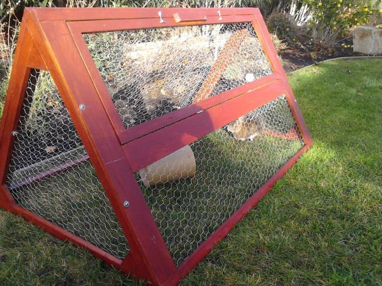 Small And Secure Triangular Hutch