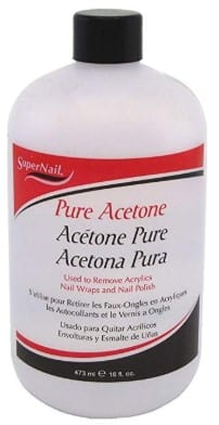Apply Acetone In Small Repeated Doses