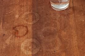 Apply The Paste To The Water Stains On Unfinished Wood. 1