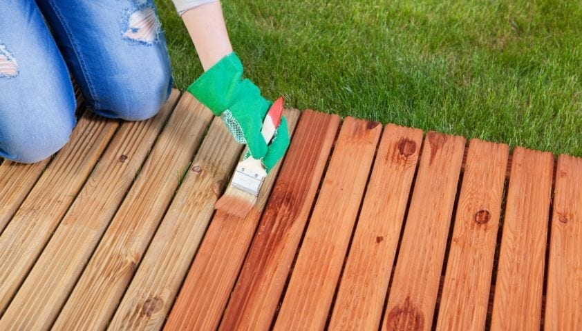 Can You Stain Pressure Treated Wood Cut The Wood